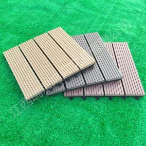 China 2017 wood plastic composite Solid DIY Decking flooring 300*300mm for interior/exterior home decor China Manufacture on sale