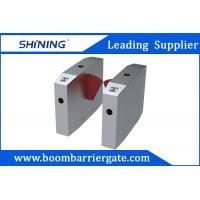 Fingerprint Reader Stainless Steel Flap Barrier Gate For Building Management