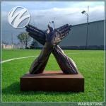 Original Design Decorative Bronze Statue Black - Chrome Lacquered Finishing