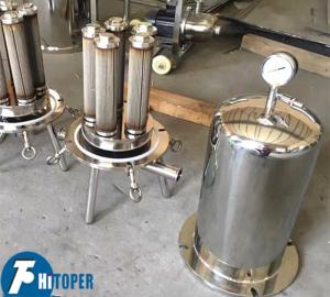 China Chemical Industry Cartridge Filter Housing , Liquid Purification SS Cartridge Filter on sale