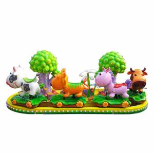 China Kids Funny Amusement Park Rides 4 Cute Calves FRP Decorative Trees on sale