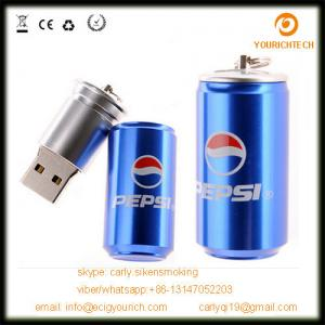 China Pop Can shape usb flash drive, metal mini beer pop can pen drive on sale
