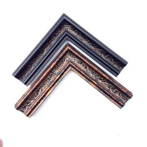 China J05057 series Hualun Guanse Gold PS Frame Moulding Italy Design Plastic Picture Frame Moulding on sale
