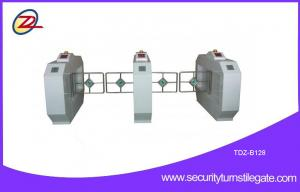 China Pedestrian Double Swing Gate Turnstile with sound and light alarm function on sale