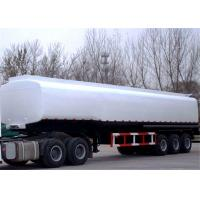 China 40 - 45CBM Fuel / Oil Tank Semi Trailer Truck  Aluminum and stainless steel optional on sale