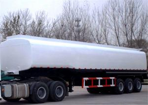 China 40 - 45CBM Fuel / Oil Tank Semi Trailer Truck  Aluminum and stainless steel optional supplier