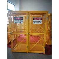 China 71-3/4 X 60 X 30 Assembled Yellow Industrial Safety Cabinets Gas Cage Cylinder Storage on sale