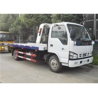 ISUZU 4x2 Small Tow Truck , 6 Wheels 3 Ton Flatbed Wrecker Truck For Two / Three Cars