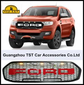 China Ford Ranger Parts Ford Everest Black ABS Front Grill With LED Light on sale