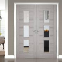 Front Main Gate Solid Wood Entry Doors , Solid Wood Interior Doors With Glass