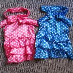 Bleu, princesse formelle Custom Dog Dresses de rose pour le pékinois, caniche
