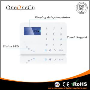 China APP Diy Home Alarm Systems control Touch Keypad GSM With Smart Door Sensor on sale