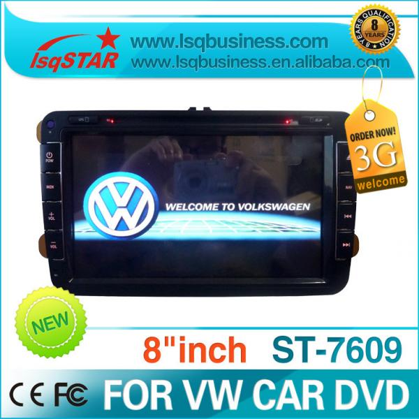 8 Inch 3G PIP Virtual Charger Volkswagen DVD GPS With 3D Map