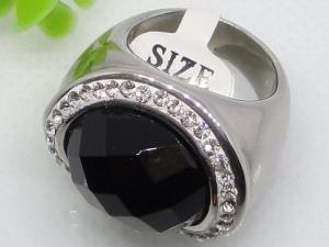 China Semi Precious Stone Stainless Steel Ring for Gift 1140470 on sale