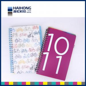 China Colorful A5 , A4 or custom spiral notebook printing  for school students on sale