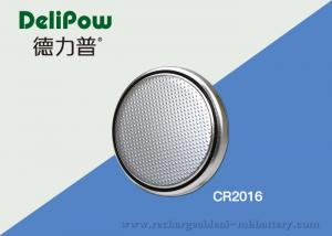 China Safety CR2016 Button Battery , Cell Button Batteries With High Output on sale