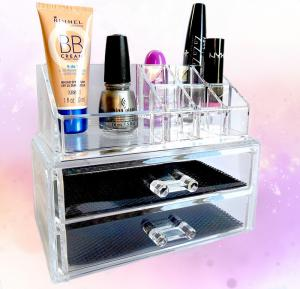 China Cosmetic Custom Acrylic Products Multiple Display Makeup Box Case With Drawers on sale
