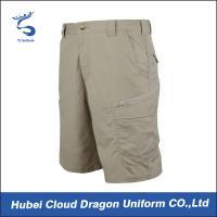 Light Khaki TC Ripstop Military Cargo Shorts , Tactical Dress Pants For Summer
