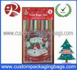 La coutume a imprimé le HDPE en plastique 20 de sacs de festin - 100micron pour Noël