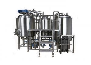 China 7BBL Small Brewery Equipment SUS304 Semi Auto Control System With Steam Heating on sale