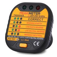 China 110 / 230V Electric Socket Tester Automatic Electricity Diagnostic Detector on sale