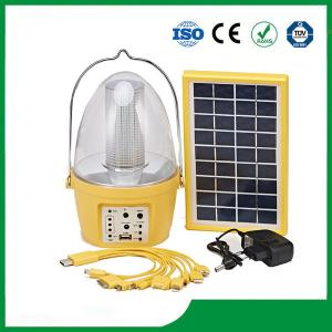 China Plastic camping solar lantern with solar panel, mobile phone charger, FM radio function on sale
