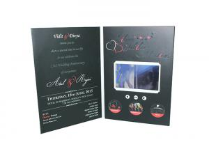 China New idea you never seen lcd screen greeting card full color printing and video playing on sale