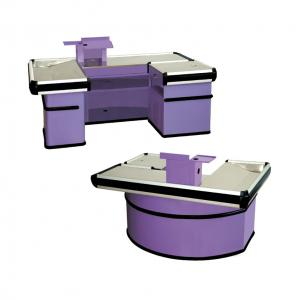 China Fashion Style Register Checkout Counter Purple Color For Supermarket on sale