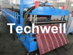 Chain Drive Tile Roll Forming Machine With Hydraulic Pressing Cutting Devices