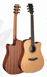 China 41inch OEM TOP solidwood vintage cutaway electric acoustic guitar/western guitar steel string sale-TP-AG58 on sale