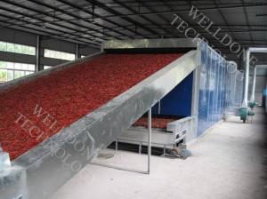 China 110 / 220V Continuous Conveyor Belt Dryer With Hot Air Drying System on sale