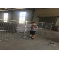China 8ft x 12ft temporary chain link fence 12ga wire diameter chain mesh spacing 50mmx50mm hot dipped galvanized free stand on sale