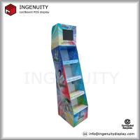 China advertising LCD screen cardboard standing display on sale
