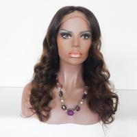 China 8A grade Ombre Color Brazilian Human Hair Body Curl Full Lace Wigs on sale
