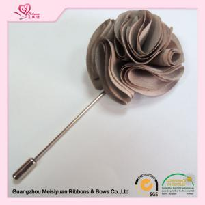 ... Quality 5cm Size fabric rosette diy Fabric Flower Lapel Pins mens fashion for sale