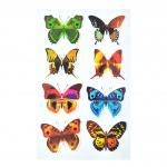 Magical TPE reusable Non Glue Colorful Buttterfly Stickers Stick On Any Smooth Surface Kids nice gift stickers