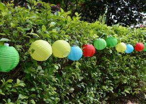China Agua ligera de la secuencia solar de la bola del multicolor resistente con las linternas de 10 pedazos on sale