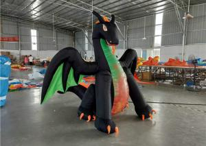 China Oxford Cloth Inflatable Advertising Signs Dragon Blow Up Digimon Cartoon Character With LED Light on sale