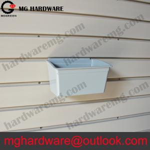 China Middle size White Grey Color Customed Plastic bins for slatwall system on sale
