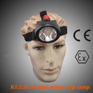 China Portable LED Mining Lamp 4000lm SABS , 90 Degree Coal Miners Headlamp KL2.5LM on sale