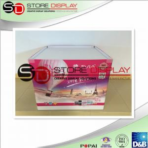 China Cardboard  pallet display retail for supermarket with 4 C offset printing on sale