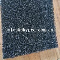 Air filter sponge sheet black polyurethane 20ppi foam sheet reticulated polyurethane filter foam