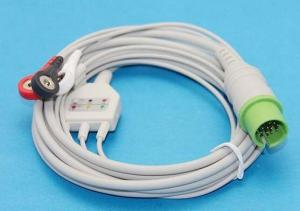 China Medical 3-lead ECG cable, Spacelabs one-piece 3-lead ECG cable on sale