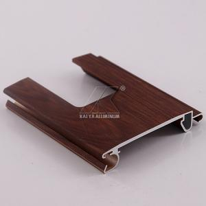 China Wood Grain Classic Roller Shutters , Extruded Aluminium Profiles Anodized Finish on sale