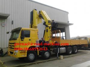 China XCMG 10T SQ10ZK3Q Truck Mounted Crane , Blue Truck Arm Crane, Front/Rear Truck Crane Telescoping/ Knuckle Crane on sale