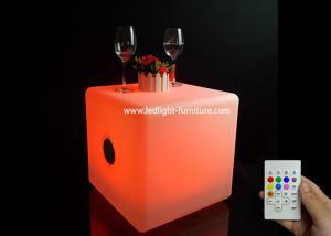 China Multi Colors Led Bluetooth Speaker , Lighted Cube Wireless Bluetooth Speaker 50*50*50 Cm on sale