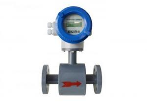 China PTFE Liner And Local Display Magnetic Flow Meters DN200 For Waste Water , Pulp And Slurries supplier