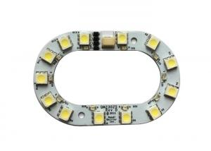 China 2 Layer FR4 LED PCB Board For LED With 1B73 Conformal Coating with SMD 5050 LEDs on sale