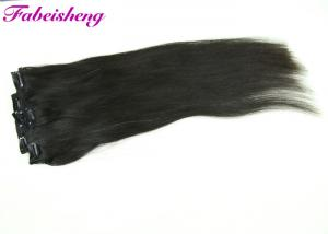 China 12 Inch Clip In Human Hair Extensions Soft And Smooth Natural Color Chemical Free on sale