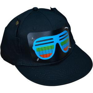 China 2019 New Style Customized  Flashing El Caps Football Wireless Custom Light Up EL Hat / Sound Activated wireless led Caps on sale